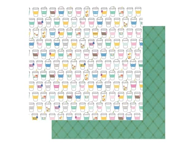 Pebbles Collection Hen Hadfield Chasing Adventures Paper 12 in. x 12 in. Sip Sip