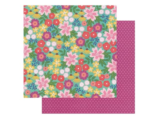 Pebbles Collection Hen Hadfield Chasing Adventures Paper 12 in. x 12 in. Wild Flowers