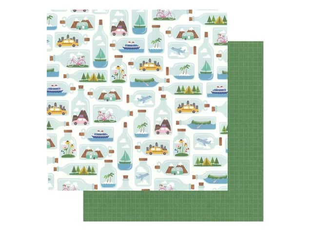 Pebbles Collection Hen Hadfield Chasing Adventures Paper 12 in. x 12 in. Tiny Travels