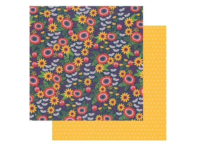 Pebbles Collection Hen Hadfield Chasing Adventures Paper 12 in. x 12 in. Savanna