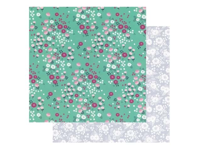 Pebbles Collection Hen Hadfield Chasing Adventures Paper 12 in. x 12 in. Cherry Blossoms