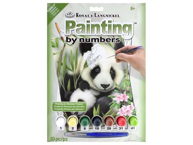 Royal Paint By Number Junior Small Panda & Baby