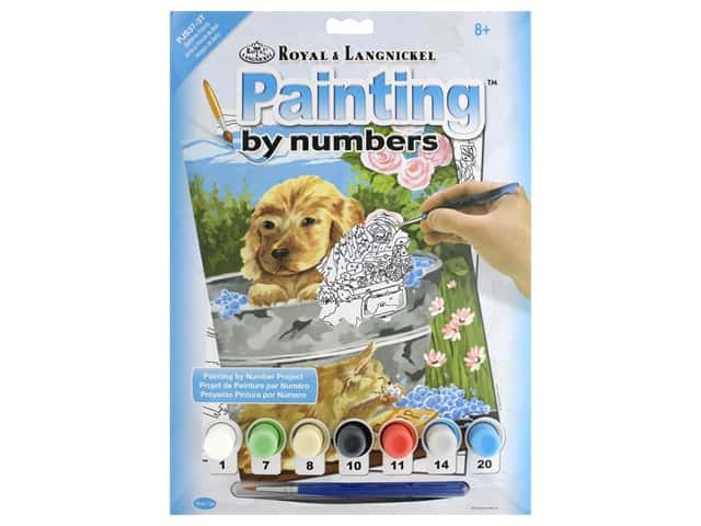 Royal Paint By Number Junior Small Bathtime Friends