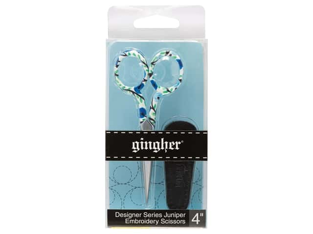 Gingher 4 in. Designer Embroidery Scissors Juniper