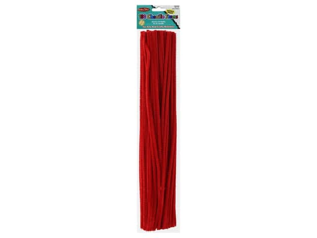 "Creative Arts Chenille Stem 12"" 4mm Red 100pc"