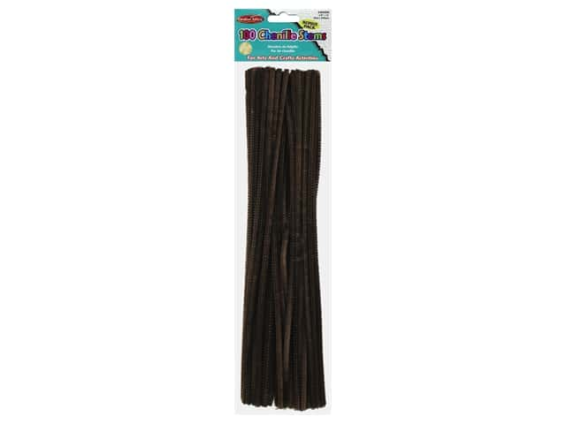 "Creative Arts Chenille Stem 12"" 4mm Brown 100pc"