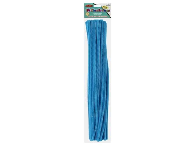 "Creative Arts Chenille Stem 12"" 4mm Blue 100pc"