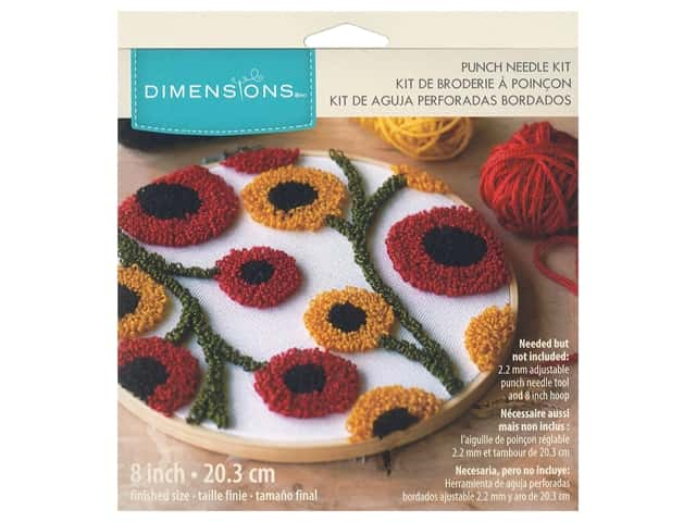 Dimensions Punch Needle Kit 8 in. Floral Pattern