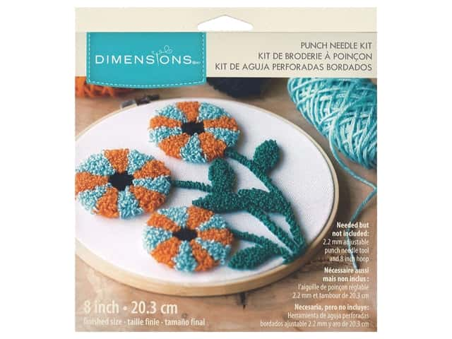 Dimensions Punch Needle Kit 8 in. Modern Floral