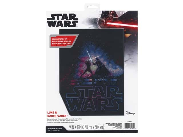 Dimensions Counted Cross Stitch Kit 9 x 12 in. Luke & Darth Vader