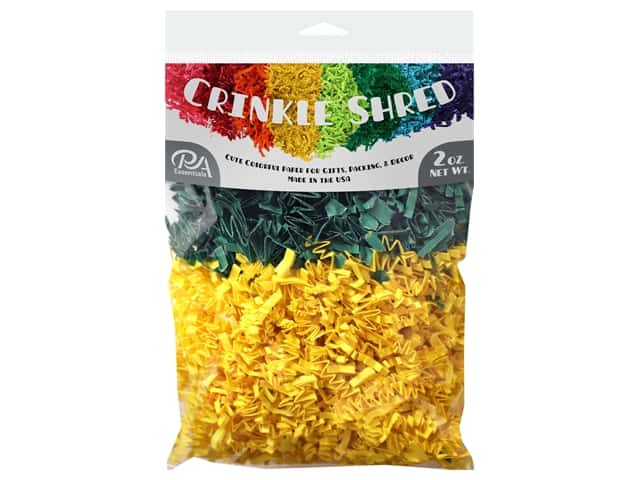 PA Essentials Crinkle Shred 2 oz. Green/Yellow
