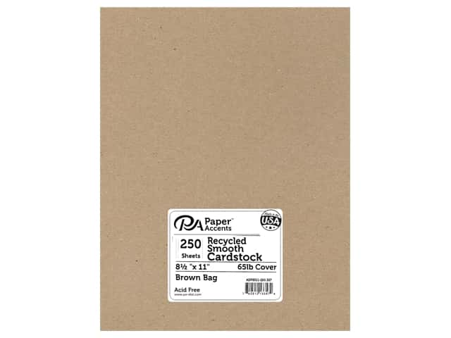 Paper Accents Cardstock 8 1/2 x 11 in. #357 Recycled Brown Bag 250 pc.
