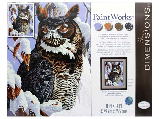 Paint Works Paint By Number Kit 11 in. x 14 in. Winter Watch