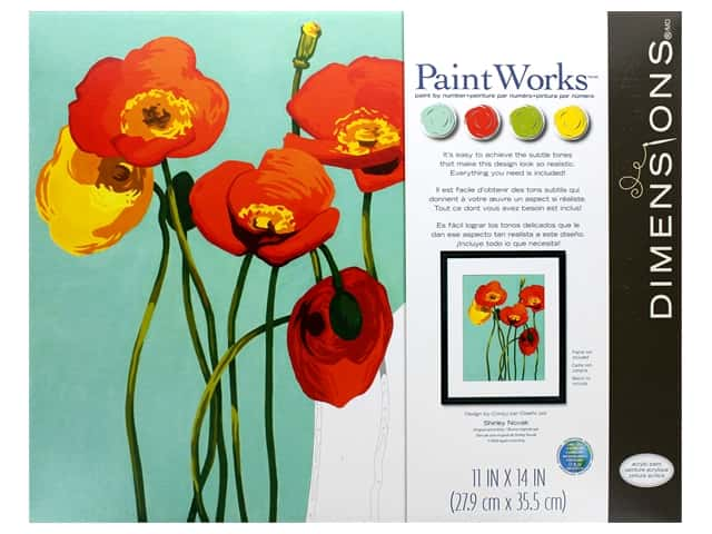 Paint Works Paint By Number Kit 11 in. x 14 in. Colorful Blooms