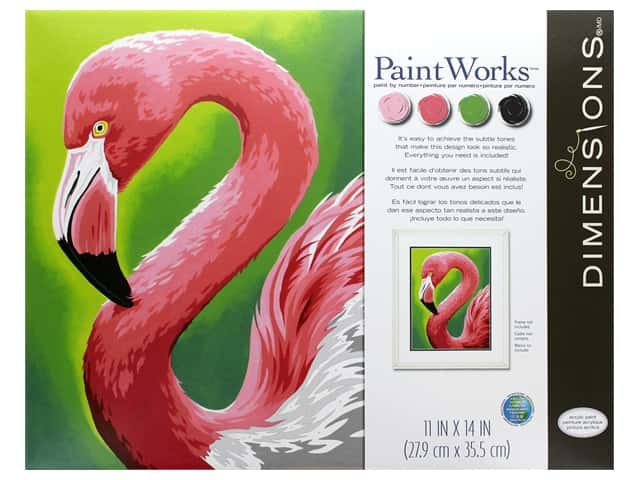 Paint Works Paint By Number Kit 11 in. x 14 in. Flamingo Fun