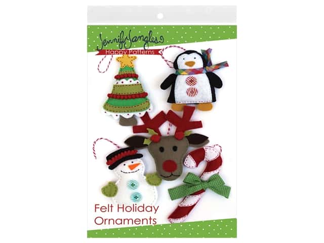 Jennifer Jangles Felt Holiday Ornaments Pattern