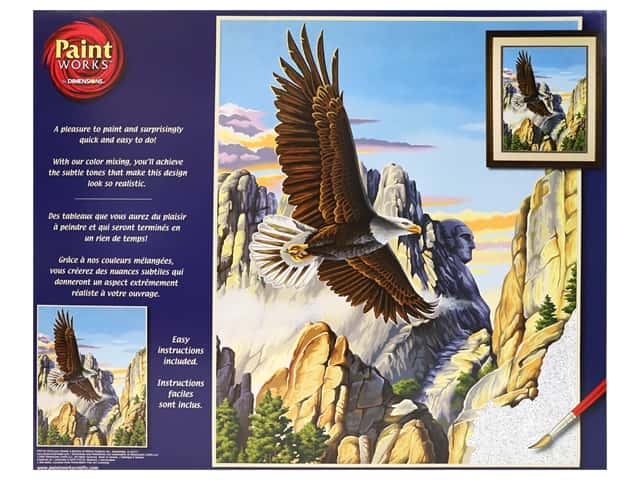 Paint Works Paint By Number Kit 16 in. x 20 in. Soaring Eagle