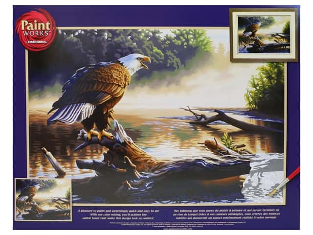 Paint Works Paint By Number Kit 20 in. x 14 in. Eagle Hunter