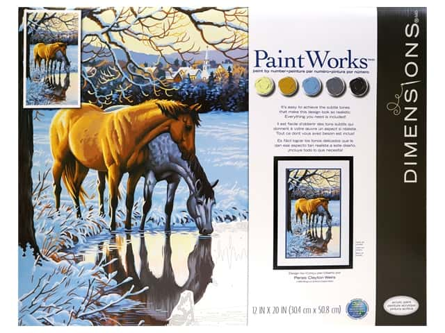 Paint Works Paint By Number Kit 12 in. x 20 in. Reflections