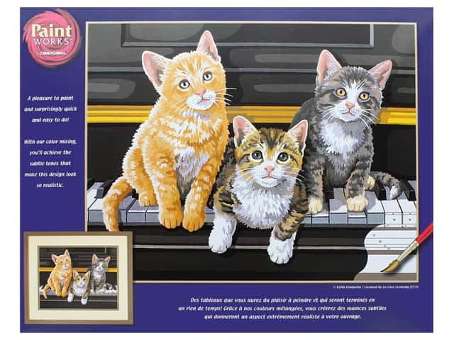 Paint Works Paint By Number Kit 14 x 11 in. Musical Trio