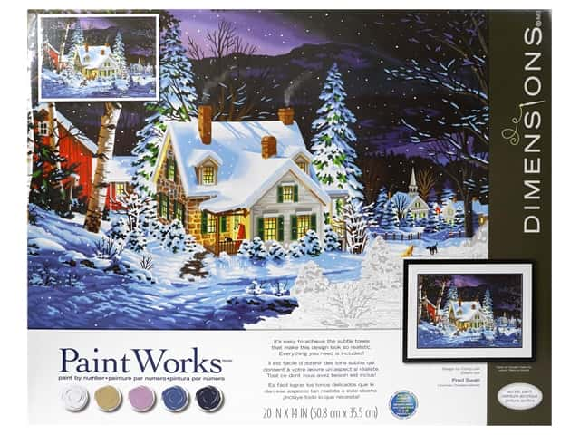 Paint Works Paint By Number Kit 20 in. x 14 in. Winters Hush