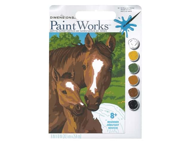 Paint Works Paint By Number Kit 8 x 10 in. Pony & Mother