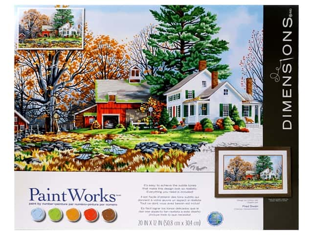 Paint Works Paint By Number Kit 20 in. x 12 in. Precious Days