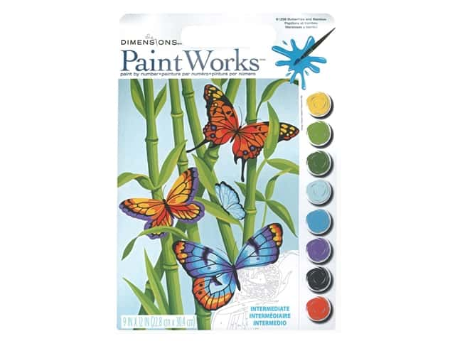 Paintworks Paint By Number Kit 9 x 12 in. Butterflies & Bamboo