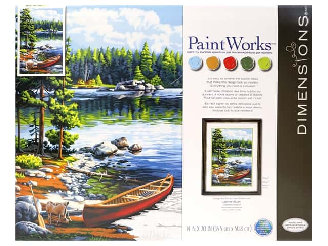 Paintworks Paint By Number Kit 14 x 20 in. Canoe By The Lake