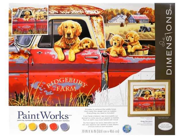 Paintworks Paint By Number Kit 20 x 16 in. Golden Ride