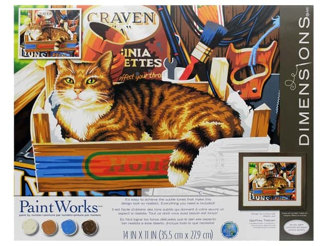 Paint Works Paint By Number Kit 14 in. x 11 in. Cat Signs