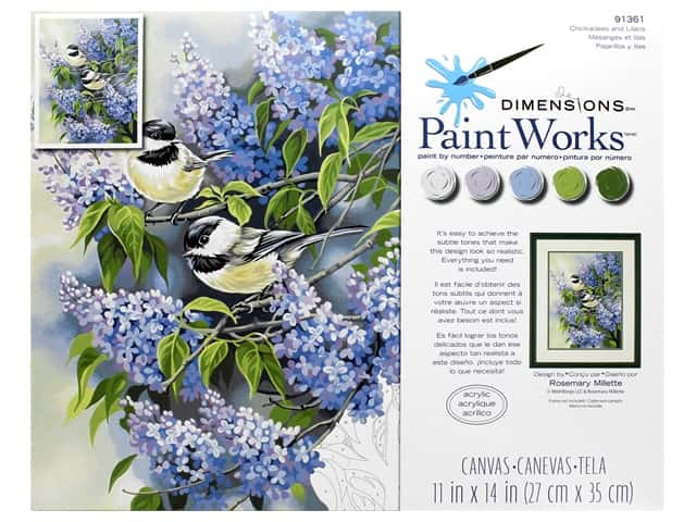 Paintworks Paint By Number Kit 11 x 14 in. Chickadees & Lilacs