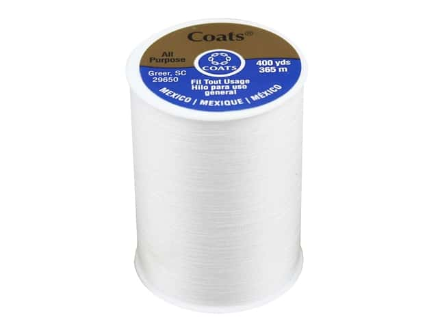 Coats & Clark All Purpose Polyester Thread 400 yd. White