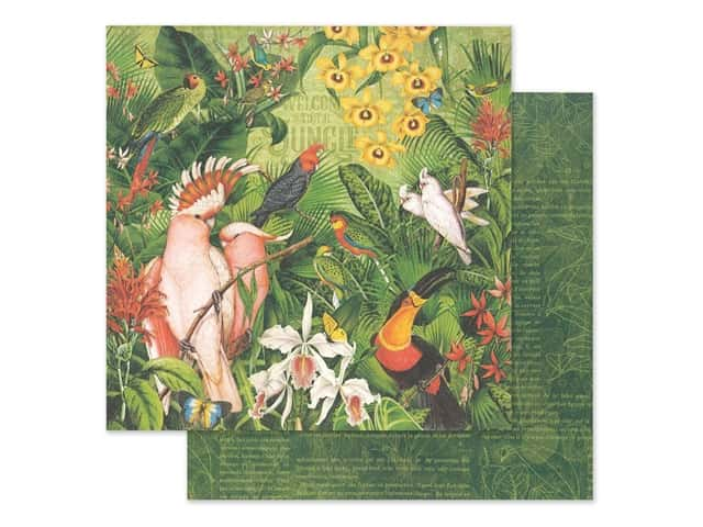 Graphic 45 Lost In Paradise Paper 12 in. x 12 in. Welcome To The Jungle