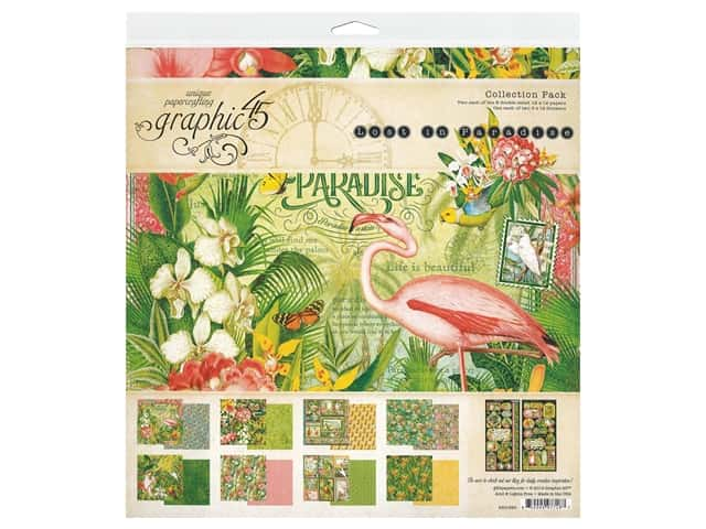 "Graphic 45 Lost In Paradise Collection Pack 12""x 12"""