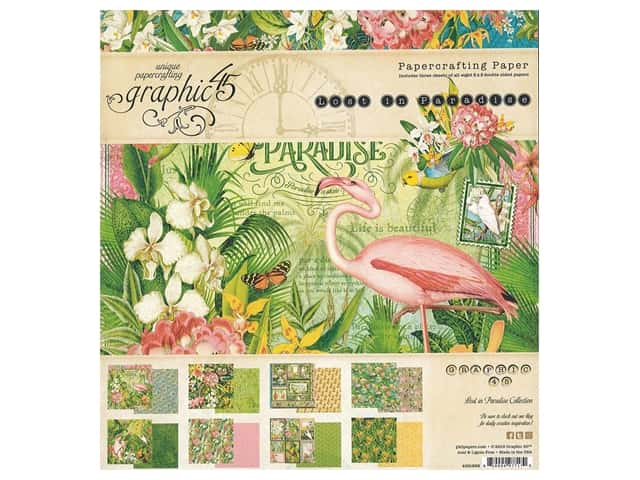 Graphic 45 Lost In Paradise Paper Pad 8 in. x 8 in.