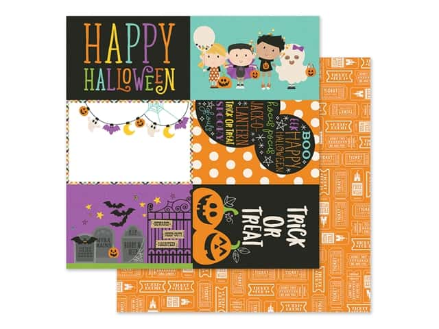 Simple Stories Collection Say Cheese Halloween Paper 12 in. x 12 in. Elements 4 in. x 6 in.