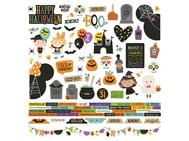 Simple Stories Collection Say Cheese Halloween Sticker 12 in. x 12 in.