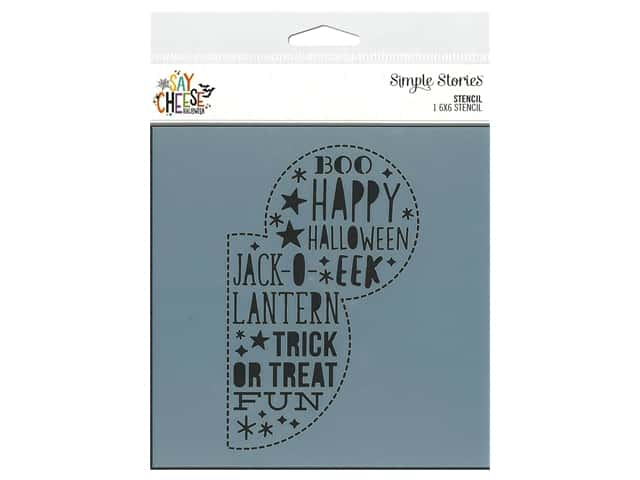 Simple Stories Collection Say Cheese Halloween Stencil 6 in. x 6 in.