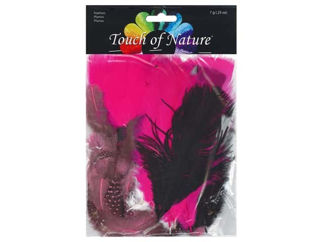 Midwest Design Feather 7 gm Assorted Black/White/Hot Pink