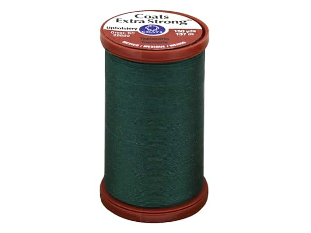 Coats Extra Strong Upholstery Nylon Thread 150 yd. Hunter Green