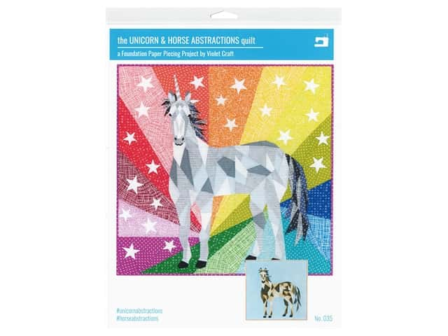 Violet Craft Unicorn & Horse Abstractions Quilt Pattern