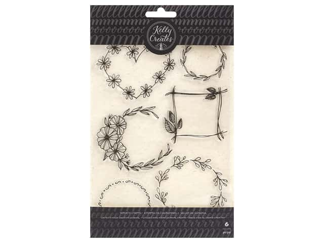 American Crafts Collection Kelly Creates Stamp Floral Wreath