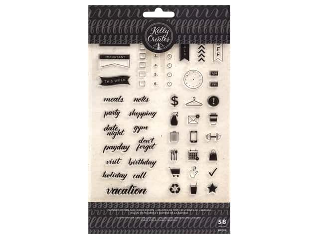 American Crafts Kelly Creates Stamp Set - Planner Words
