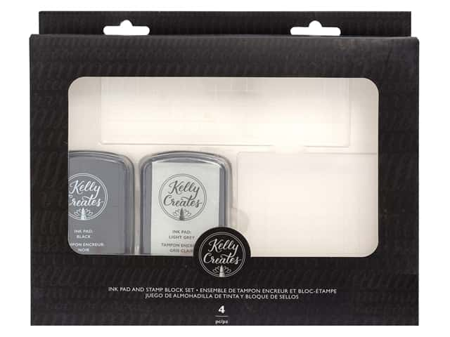 American Crafts Kelly Creates Ink Pad & Blocks Stamping Kit