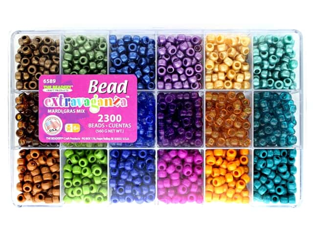 The Beadery Bead Extravaganza Box Mardi Gras Mix
