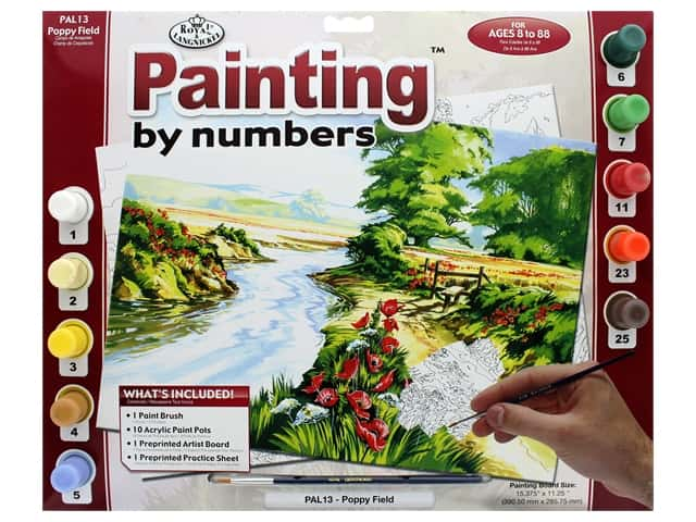 Royal Paint By Number Adult Large Poppy Field