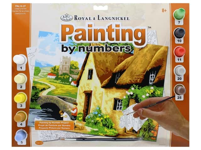 Royal Paint By Number Adult Large Cottage By The River