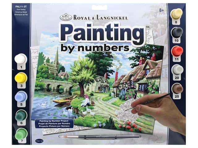 Royal Paint By Number Adult Large Duck Feeding