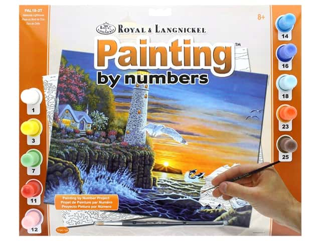 Royal Paint By Number Adult Large Waterside Lighthouse